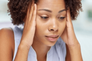 Anxiety Featured Image African American lady looking anxious
